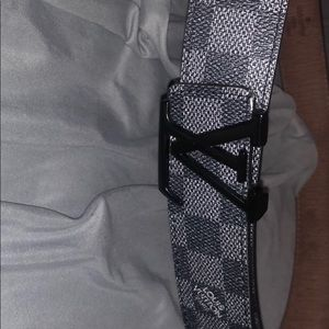 Louis Vuitton Black Checkered Belt